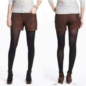 Holding Horses Anthropologie Coated Brown Shorts